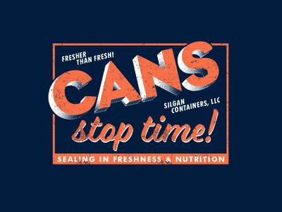 Cans Stop Time vintage art typography logo art director orange county graphic designer jamie stark