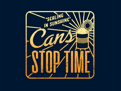 Cans Stop Time 2 cans food industry logo art orange county graphic designer art director orange county graphic designer jamie stark
