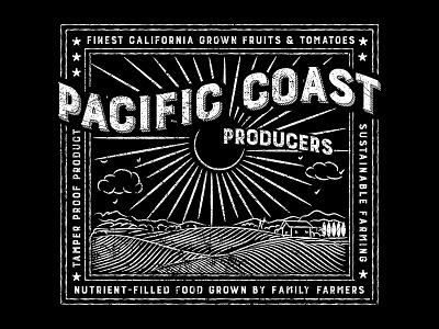 Pacific Coast T-Shirt Graphic farm tshirt art director orange county graphic designer typography graphic designer jamie stark