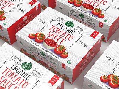 Organic Tomato 12 pack package design typography branding illustration art director orange county orange county graphic designer graphic designer jamie stark