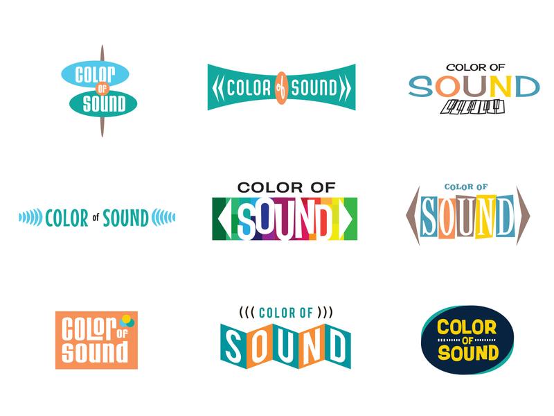 Color Of Sound art director orange county jamie stark logo logodesign branding typography