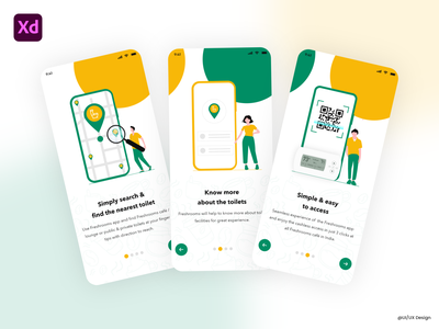 Intro Pages projects uikit android iphone mobile uiuxdesign graphic design app ui vector icon typography ux branding illustration logo design