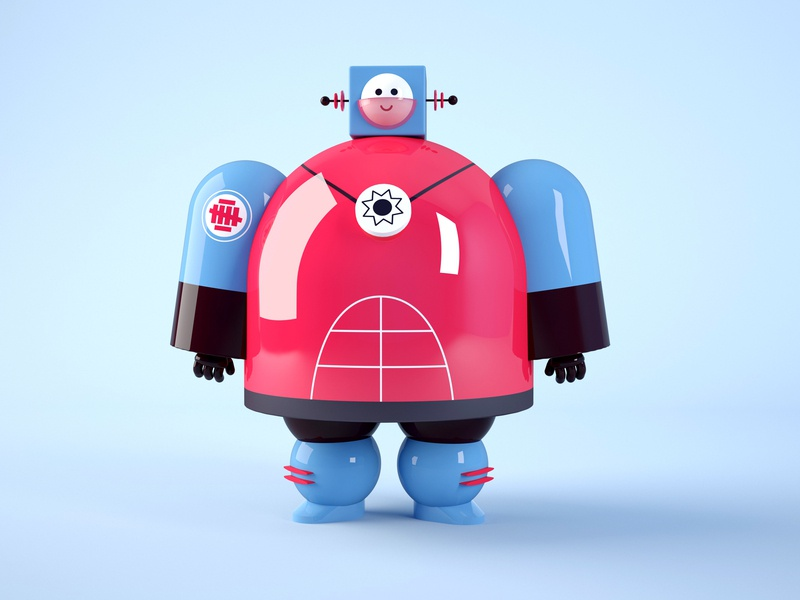 Space Rangers - 2 toy simple retro model daniel dominguez alien 3d future robot 3d artist space super hero character design minimal cinema 4d simply modeling illustration colorful 3d art