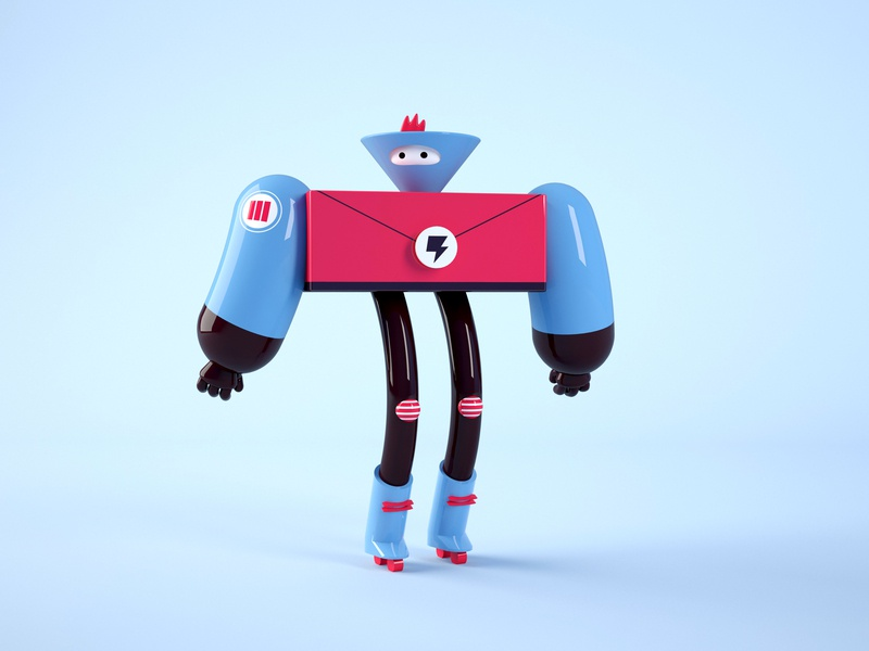 Space Rangers - 3 toy super hero space simply simple robot retro modeling model minimal illustration future daniel dominguez colorful cinema 4d character design alien 3d artist 3d art 3d