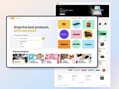 Ubuy Ecommerce illustration search engine animation website ux  ui shop web design ecommerce