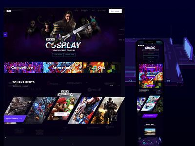 IGX Gaming Expo Website dark theme landingpage music animations expo event gaming ui design uxdesign website