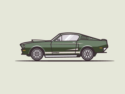 1967 Shelby Eleanour Gt500  lineart iconographer flatdesign flaticon muscle car car