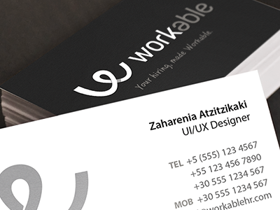 Business cards dribbble