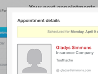 Appointment Details Modal
