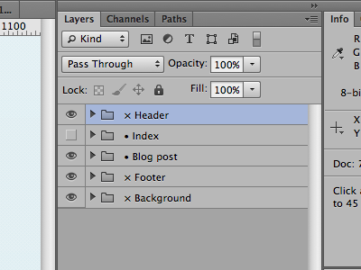 Groups & Layers Organization in Photoshop photoshop layers groups screenshot organization