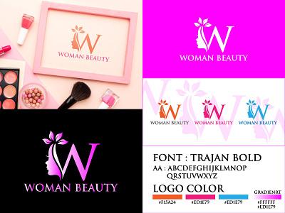 WOMAN BEAUTY design branding logo brand woman beauty face beauty logo beauty woman icon woman face logo beauty vector face beauty woman face logo beauty