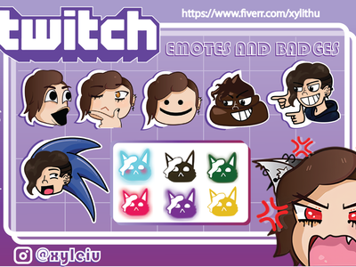 Twitch Emotes emotes twitch illustration logo