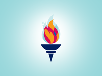 Olympic Torch olympics torch flame logo symbol fire