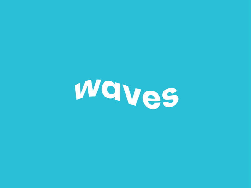 Waves typography design typography art typography design logo waves illustration