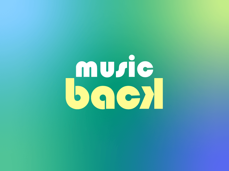 Music Back back music music back typography logo branding logo  illustrations typography typography art typography design logo design illustration