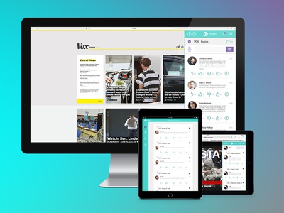 Ximein ( BETA) all platform commenting service mobil design