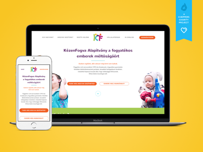 The Hand in Hand Foundation - Redesign cheppers redesgin webdesign research ui ux charity