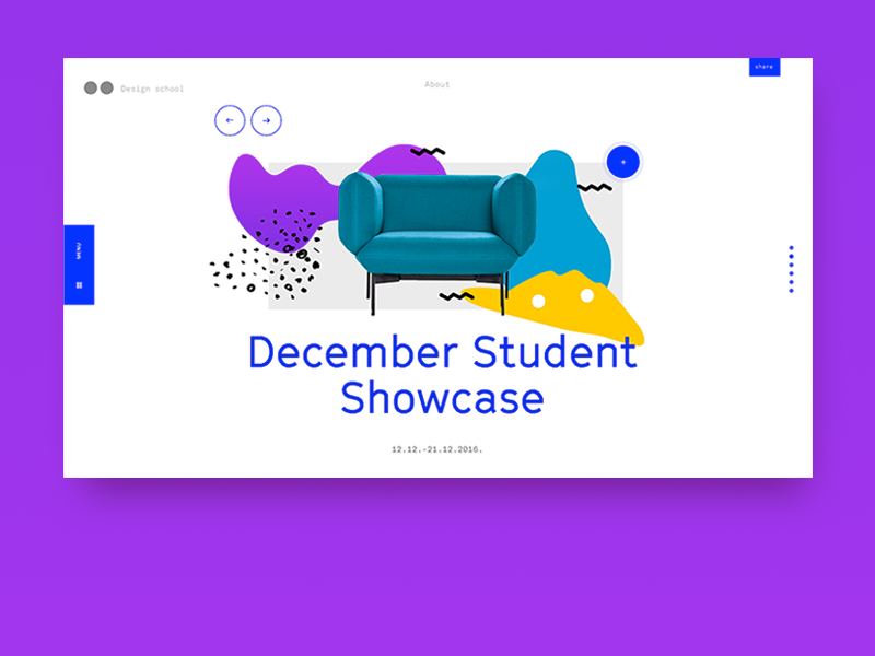 December Showcase grilli type illustration landing school design ux ui layout