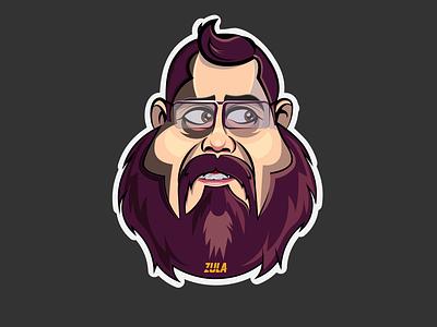 character design zula streamer vector sticker character design
