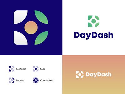 DayDash - SaaS Internal Communications Dashboard flat minimal lettering typography branding logo illustrator design