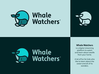 whale watchers illustration vector lettering identity minimal typography branding illustrator logo design