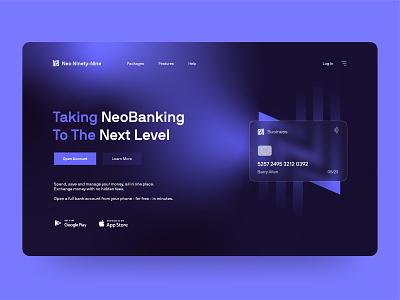 NNN - Neo Bank - Landing Page ui vector minimal branding design landing page