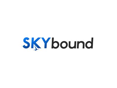 #dailychallenge day 12 - Skybound airline sky skybound gradient color gradient daily challenge type flat lettering minimal vector illustration identity typography logo illustrator branding design