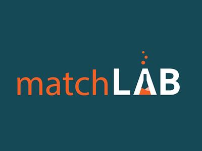 Matchlab (sold) vector identity typography logo illustrator branding design