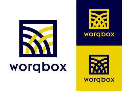 Worqbox Employment Agency type flat lettering minimal illustration vector identity typography logo illustrator branding design worqbox