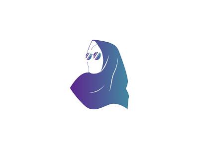 Hijab Icon Minimalist graphic design