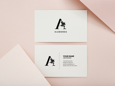 Alamanda Business Card Design graphic design branding