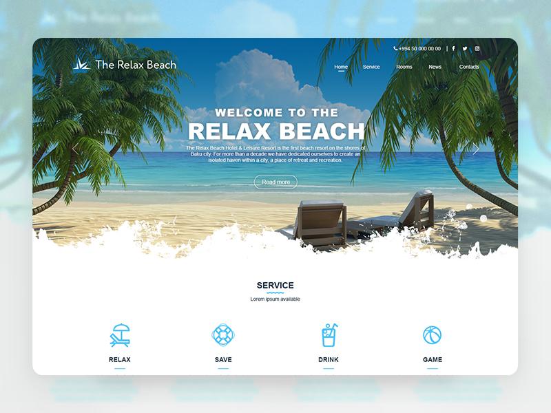 Resort website design azerbaijan baku ux ui web design website resort