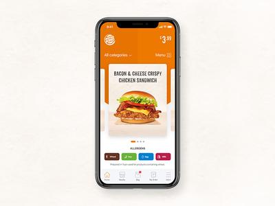 Burger King app ui design