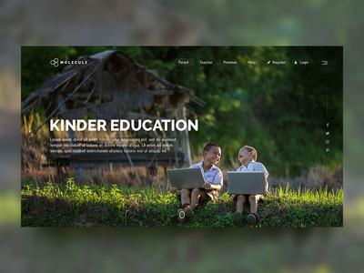 Educational website ui design