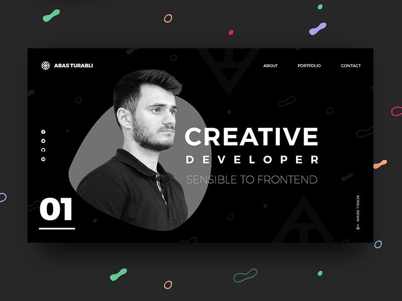 Front End Developer - Portfolio website design azerbaijan baku portfolio black design ux ui website developer frontend