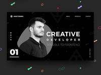 Front End Developer - Portfolio website design