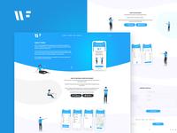 Winfi app - Landing page