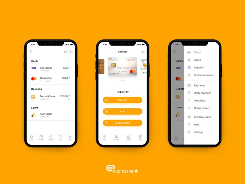Express bank app - UI Design design mobile ux ui expressbank express