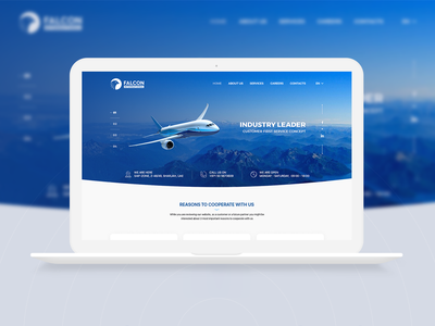 Falcon International - Website design