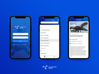 Helicopter Guide - application ui design