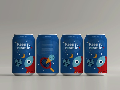 Cosmic soda planet tennis space cosmic soda can beer can beer soda can design can packaging branding illustration illustrator design graphic vector clean