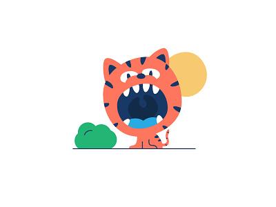 Roar stripes tigerstripes tiger roar save planet illustration illustrator graphic design vector clean