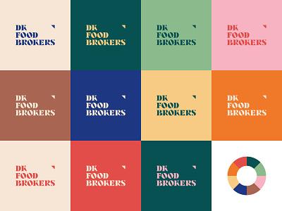 DKFB colors colour colors logo design danish broker food color illustrator logo branding graphic design design graphic vector clean