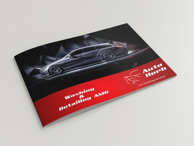 Auto Herb amc booklet booklet stationery clean brochure detailing car automobile brochure design type typography minimal logo illustrator design identity branding