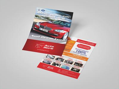 Auto Herb leaflets design leaflet design leaflet stationery detailing car automobile type typography minimal logo illustrator design identity branding