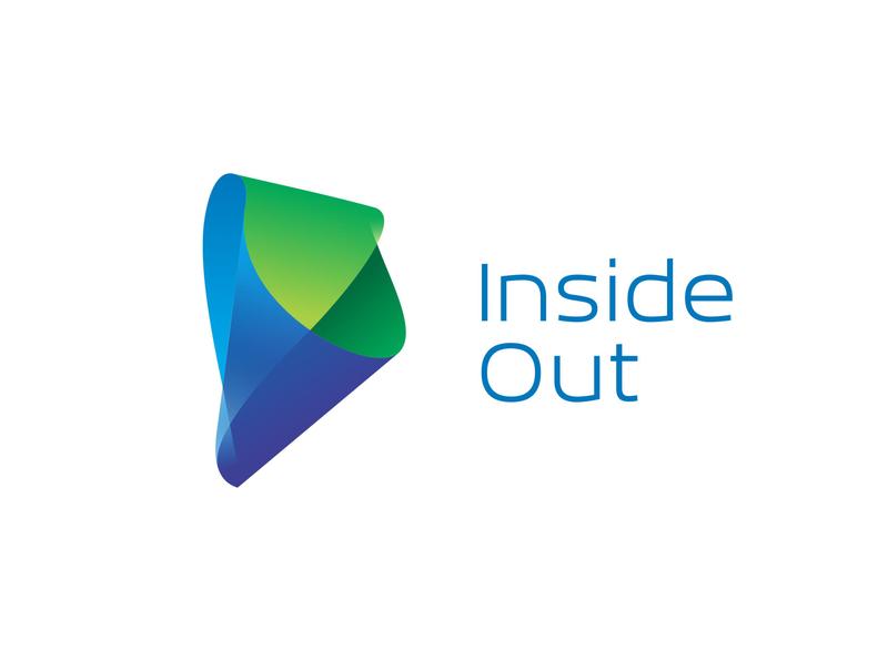 Inside Out logo design type vector landscape interior minimal typography 3d art illustrator design identity branding logo