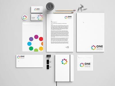 One India branding organization student collage logodesign identity designer identity design logo designer logo design stationery brochure design type typography minimal illustrator logo design identity branding