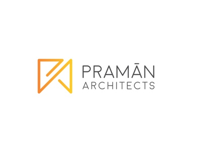 Praman Architects logo gradient logo gradient architect architecture identity design type logo design design identity branding typography minimal illustrator logo