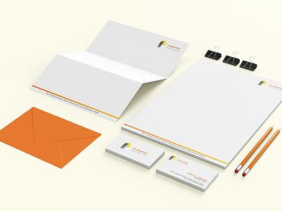 Pushpak Steel Industries Stationary design typography type illustration minimal logo illustrator identity design branding