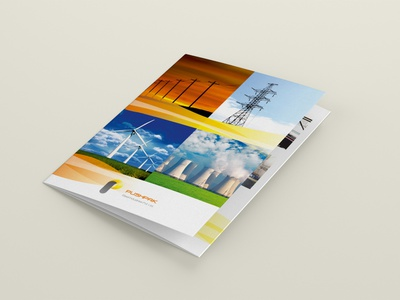 Pushpak Industries Brochure brochure design typography type minimal logo illustrator identity design branding